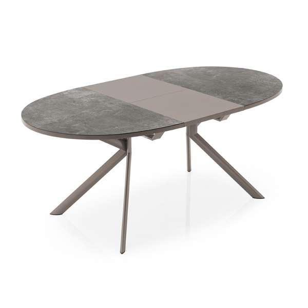 Table ovale extensible en céramique - Giove Connubia® - 1