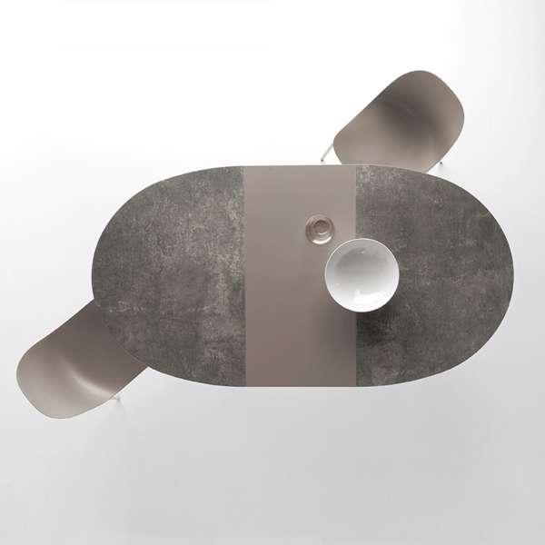 Table ovale extensible en céramique - Giove Connubia® 4 - 4