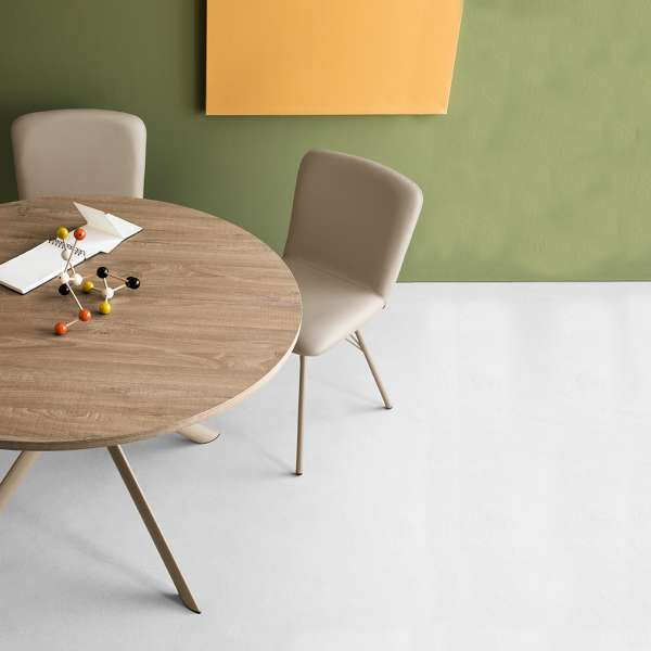 Table ronde extensible en mélaminé - Giove Connubia® 5 - 2