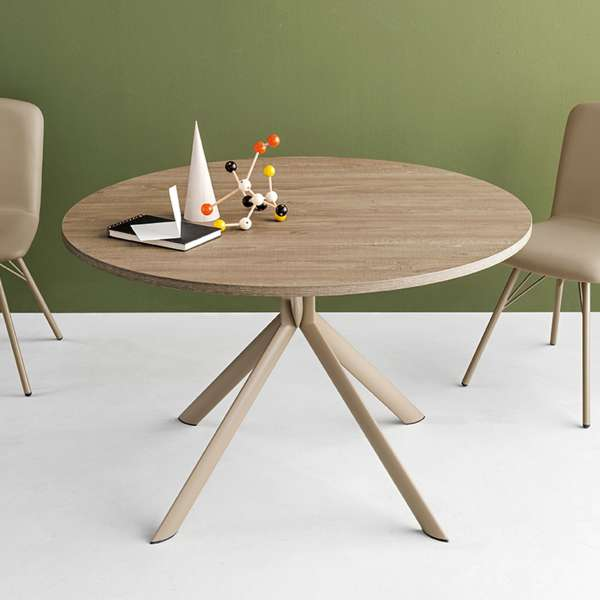 Table ronde extensible en mélaminé - Giove Connubia® 4 - 1