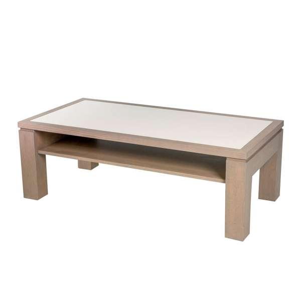 Table basse rectangulaire modulable en bois et céramique - Dinette - 1