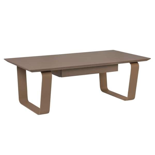 Table basse rectangulaire en céramique et acier - Cobalt | 4-pieds.com