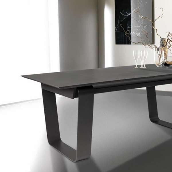 Table basse rectangulaire en céramique et acier - Cobalt - 2