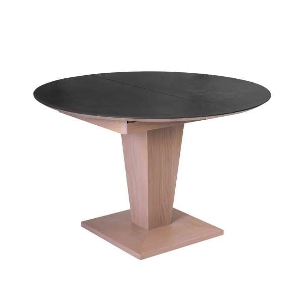 Table ronde extensible en céramique et bois - Philae - 2