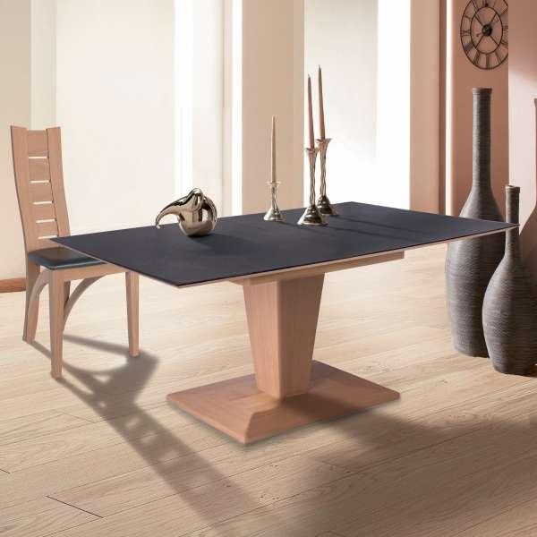 Table Moderne Rectangulaire Extensible En Ceramique Et Bois Philae