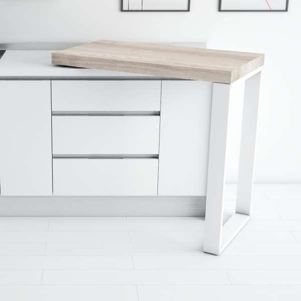 Table snack pivotante petit espace en stratifié et métal - 90° - 3