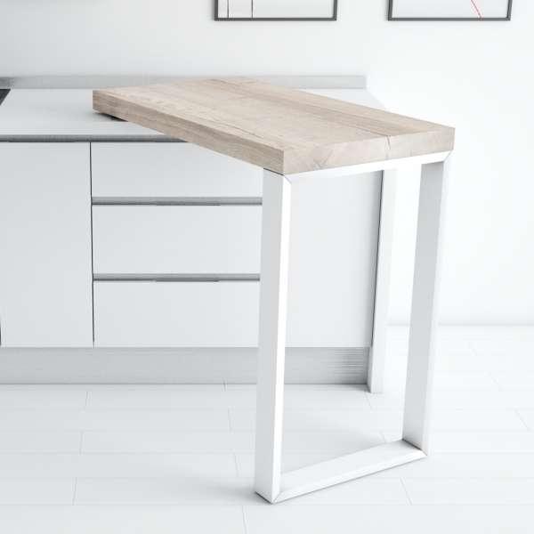 Table pivotante en stratifié et métal - 90° - 4