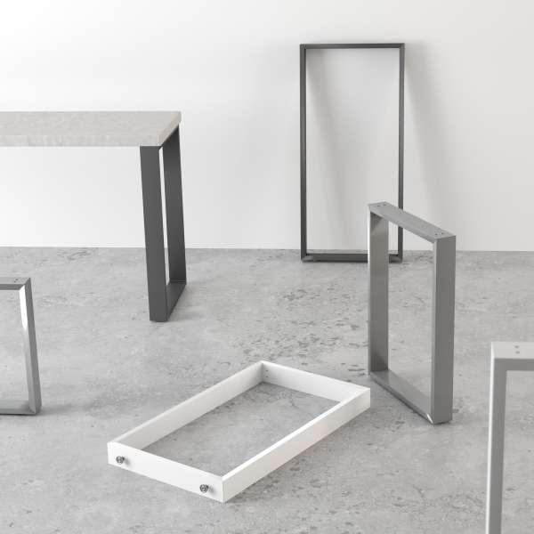 pied de table traineau de cuisine hauteur 73 88 ou 108 cm. Black Bedroom Furniture Sets. Home Design Ideas