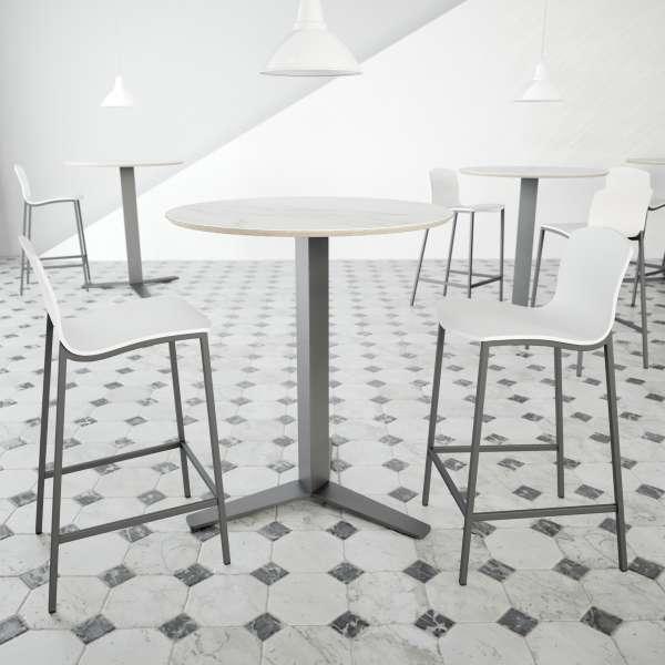 Table ronde snack moderne en céramique - Pelican - 1