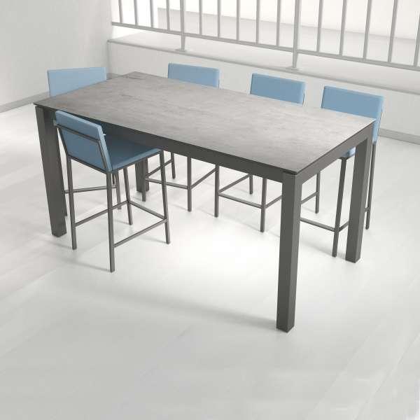 Table snack rectangulaire en céramique et métal - Coma bar - 2