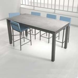 Table snack extensible en céramique et métal - Coma bar 2