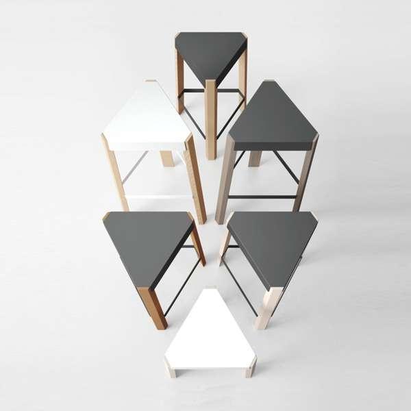 Tabouret snack design sans dossier en métal et bois - Podio 3 - 3