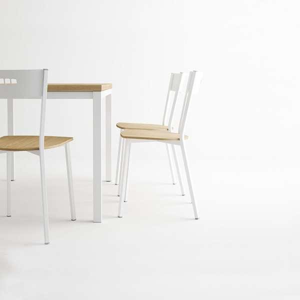 Table de cuisine extensible en mélaminé - hauteur 75 cm - Toy métal - 3 - 3