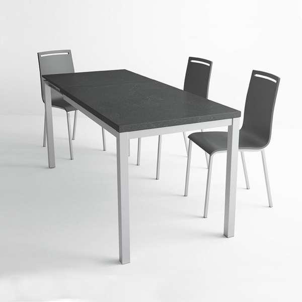 Table de cuisine avec rallonge en céramique - hauteur 75 cm - Toy métal 10 - 2