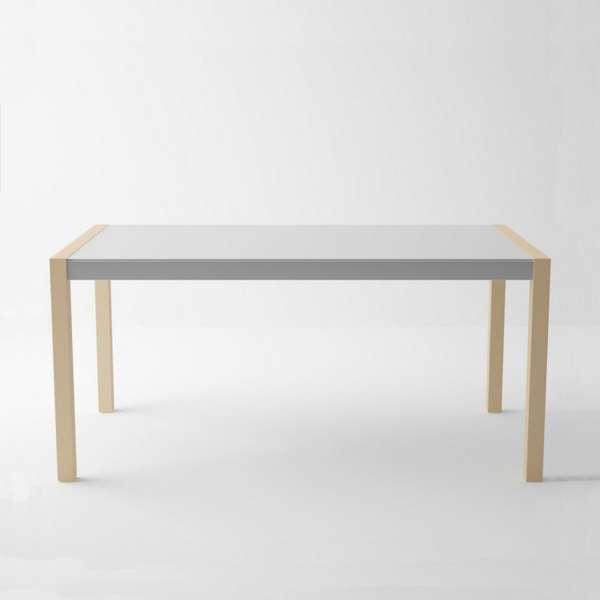 Table en verre et bois extensible - Concept bois - 2