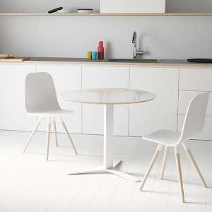 Table ronde petit espace en verre blanc et métal - Peliccan