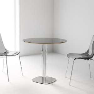 Table de cuisine ronde en verre petit espace - Circus