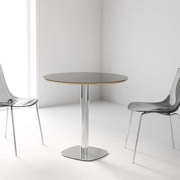 Table de cuisine ronde en verre petit espace - Circus - 1