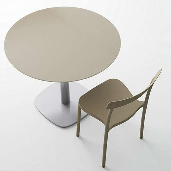 Table de cuisine ronde en verre petit espace - Circus 2 - 2