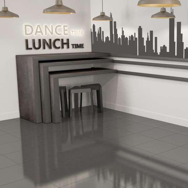 Table snack coulissante en céramique et métal - Slide - 3