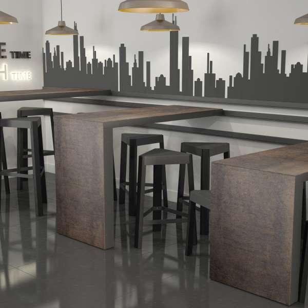 Table snack coulissante en céramique et métal - Slide 2 - 4
