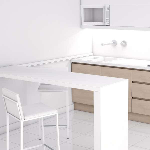 Table snack coulissante en céramique et métal - Slide 4 - 1