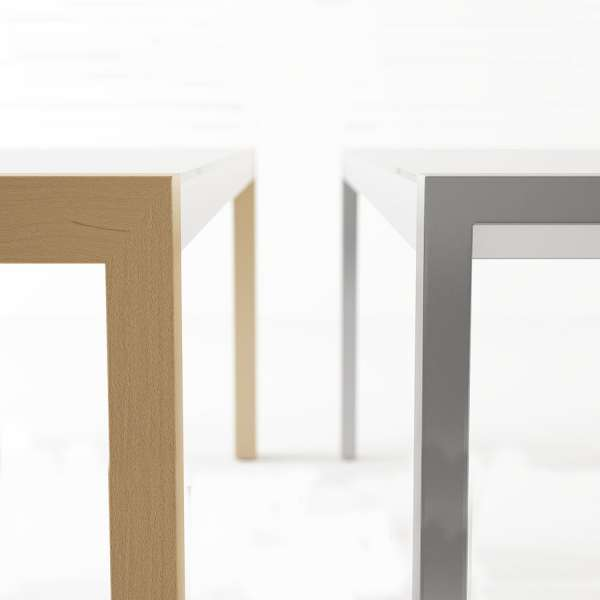 Table en verre et bois extensible - Concept bois 2 - 3