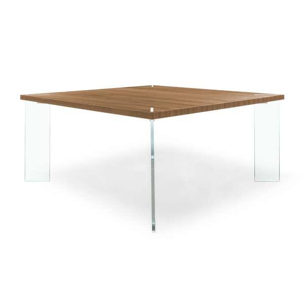 Table carrée en bois et verre - Concrete - 2