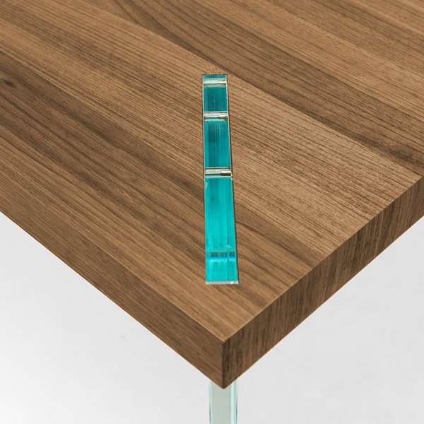 Table design en bois et verre - Concrete - 3
