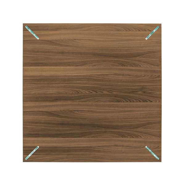 Table carrée design en bois et verre - Concrete - 4
