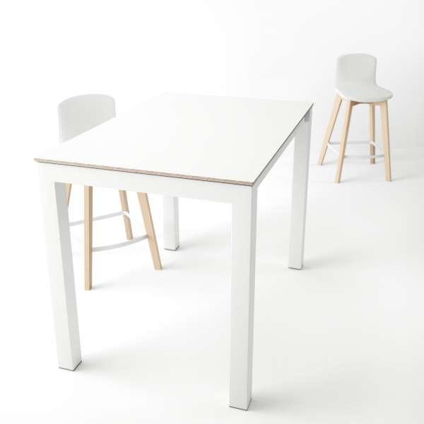 Table snack moderne en verre et métal - Coma bar - 1