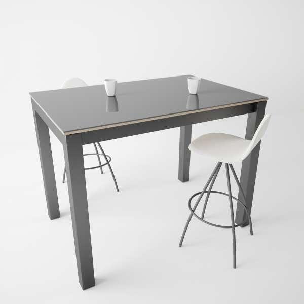 Table snack moderne en verre et métal - Coma bar 2 - 2