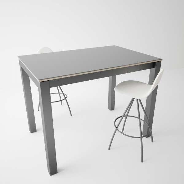 Table snack moderne en verre et métal - Coma bar 3 - 3