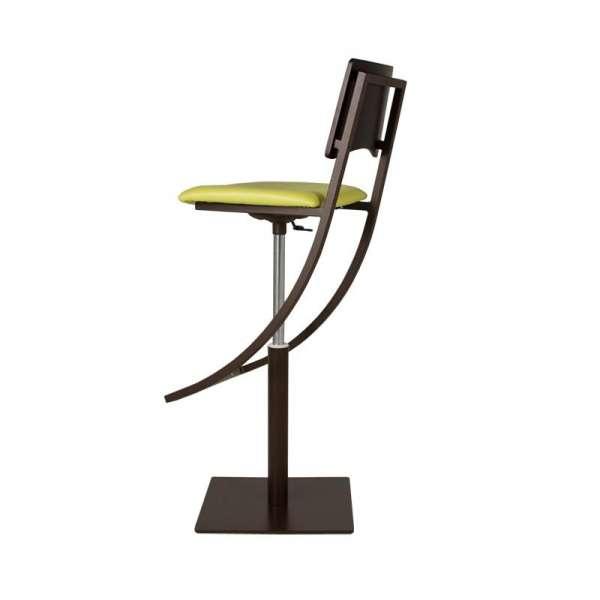 Tabouret moderne réglable en bois et métal - Ophélie  - 4