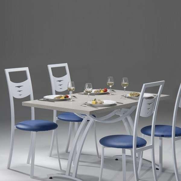 Chaise de cuisine en métal et synthétique - Daphné 3 - 4