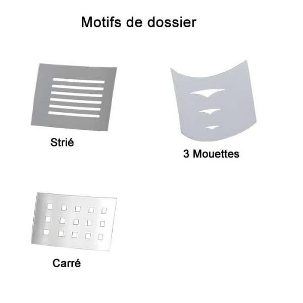Chaise de cuisine en métal et synthétique - Daphné 6 - 8