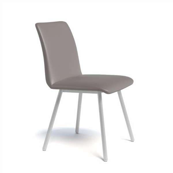 Chaise de salle à manger moderne en métal et synthétique - Pisa - 6
