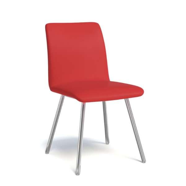 Chaise de séjour moderne en métal et synthétique - Pisa - 10