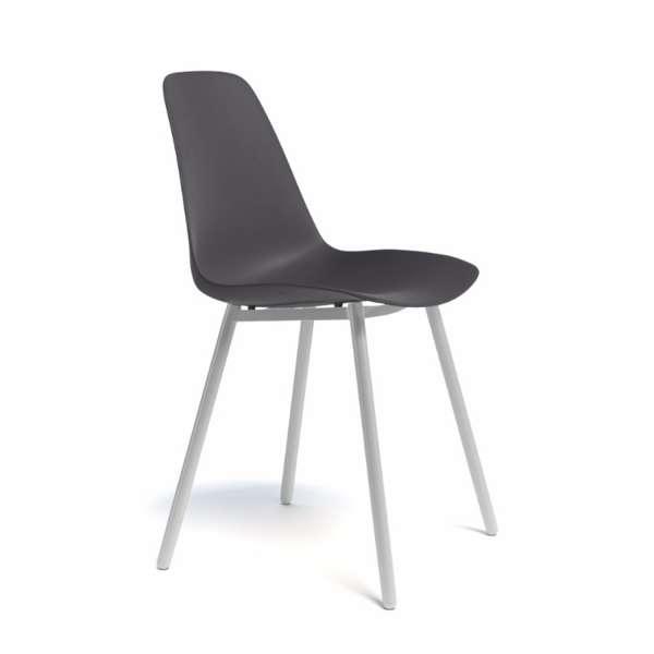 Chaise moderne en polypropylène et métal - Claudio - 2