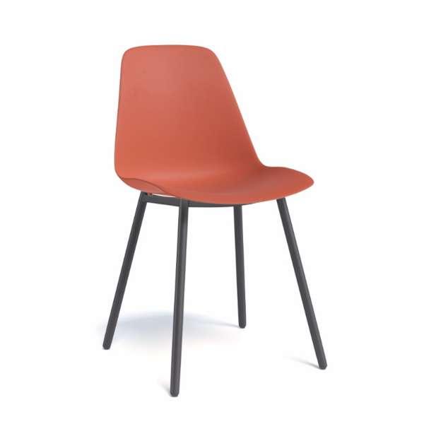 Chaise de cuisine moderne en polypropylène et métal - Claudio - 5