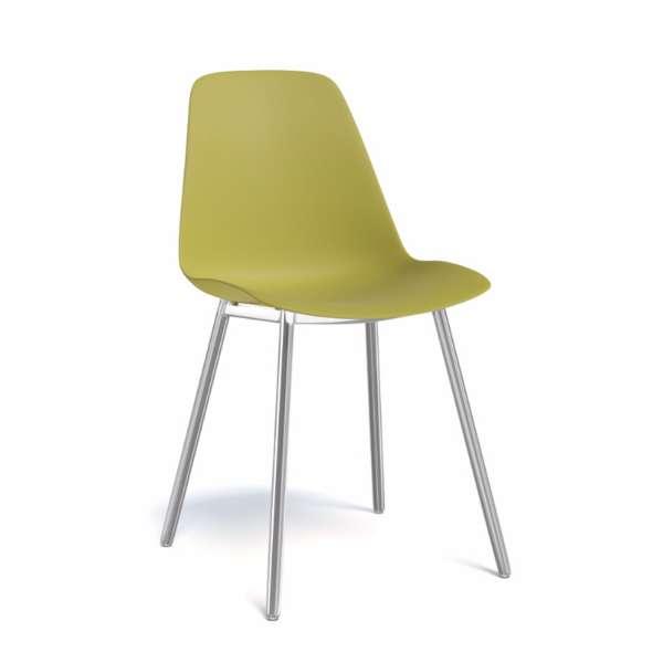 Chaise de salle à manger moderne en polypropylène et métal - Claudio - 6