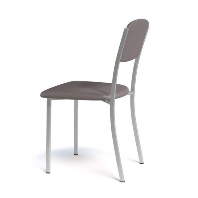 Chaise de cuisine contemporaine en synthétique et métal Brava