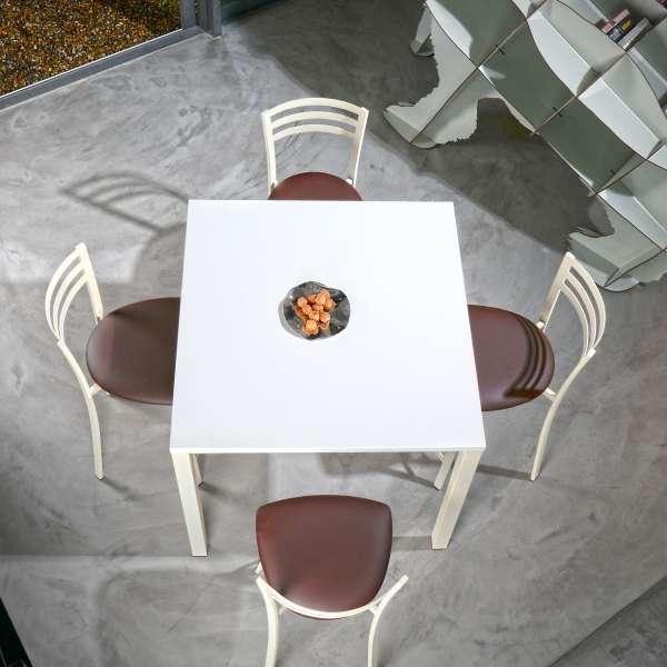 Chaise contemporaine en métal et vinyle - Urane - 5