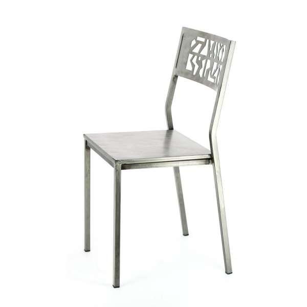 Chaise en métal brossé - Slide - 3
