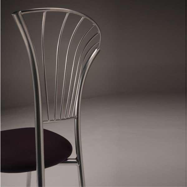 Chaise en synthétique et métal chromé - Solandre - 5