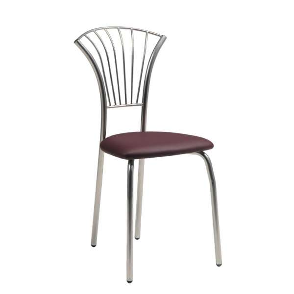 Chaise de cuisine en synthétique et métal - Solandre - 1