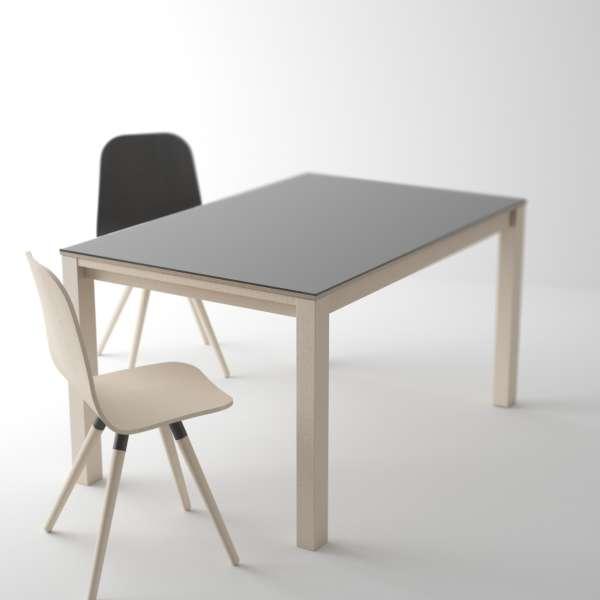 Table Moderne En Verre Extensible Quadra 4 Piedscom