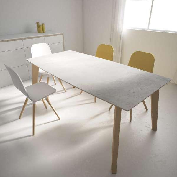 Table moderne extensible en céramique - forme elliptique - Eclipse - 5