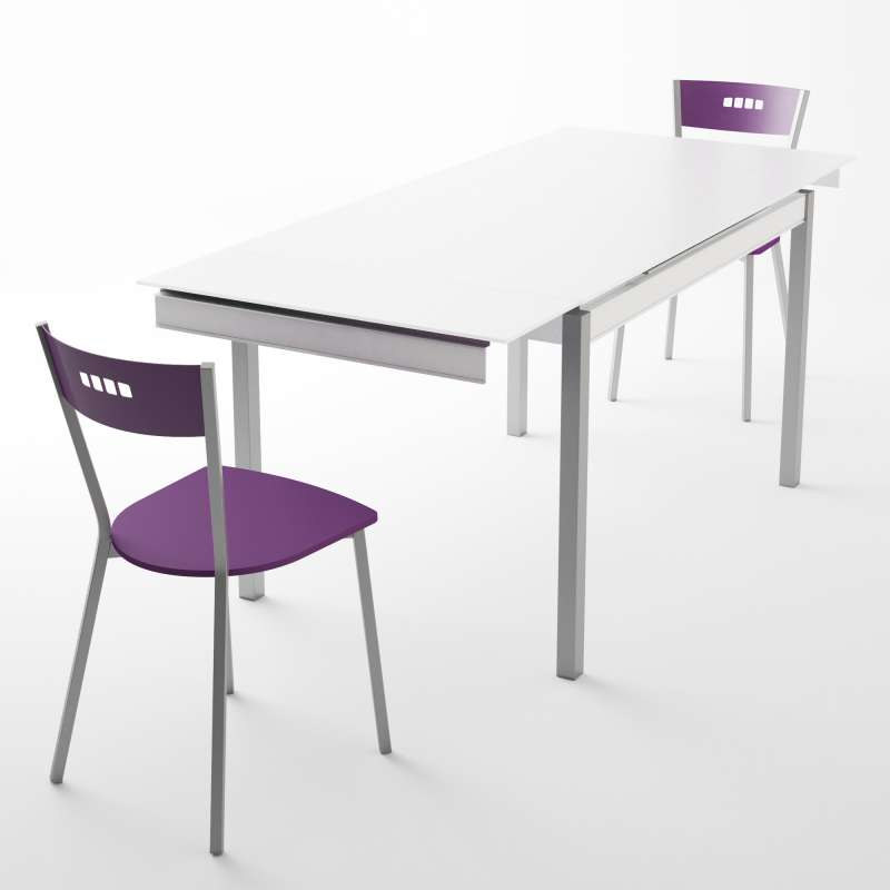 465732d23fc1a Table de cuisine en verre avec rallonge - Bambola | 4-pieds.com