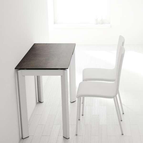 Table petit espace extensible en céramique - Poker 3 - 2